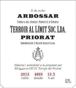 2014 Terroir Al Limit Priorat L' Arbossar