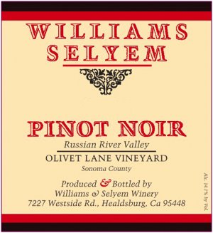 2019 Williams Selyem Pinot Noir Olivet Lane Vineyard