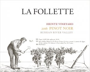 2017 La Follette Pinot Noir Heintz Vineyard