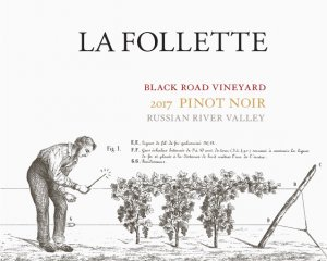 2017 La Follette Pinot Noir Black Road Vineyard
