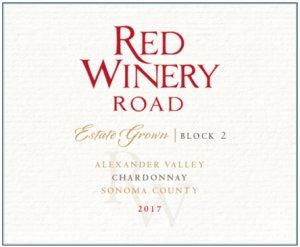 2017 Red Winery Road Chardonnay Estate Grown Block 2