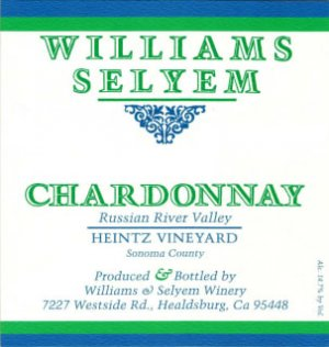 2019 Williams Selyem Chardonnay Heintz Vineyard
