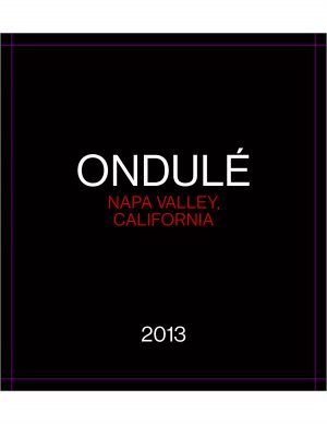 2013 Ondule Proprietary Red Blend