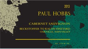 2013 Paul Hobbs Cabernet Sauvignon Beckstoffer To Kalon Vineyard