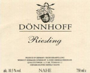 2015 Donnhoff Riesling Estate QbA