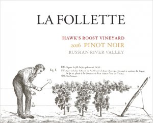2016 La Follette Pinot Noir Hawk's Roost Vineyard