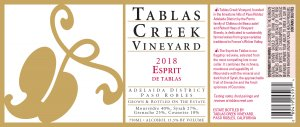 2018 Tablas Creek Esprit de Tablas Rouge 375 ml