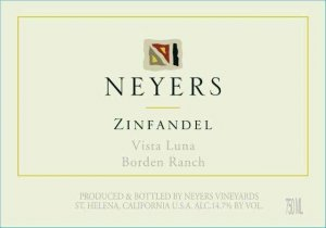 2015 Neyers Zinfandel Vista Luna Vineyard
