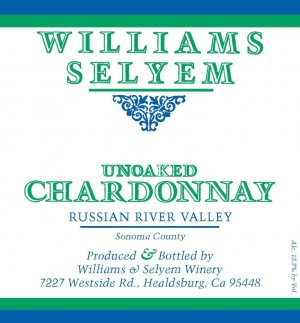 2019 Williams Selyem Chardonnay Unoaked