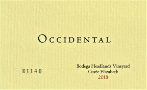 2018 Occidental Pinot Noir Bodega Headlands Vineyard Cuvee Elizabeth