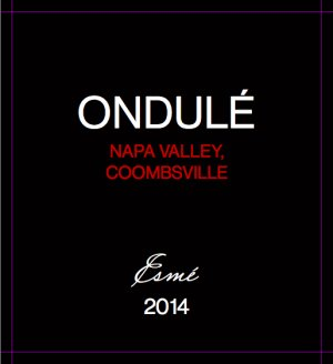 2014 Ondule Proprietary Red Blend Esme