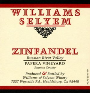 2019 Williams Selyem Zinfandel Papera Vineyard