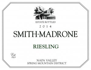 2014 Smith-Madrone Riesling Estate