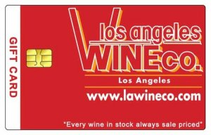 Los Angeles Wine Company Gift Card $750.00