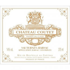 2016 Chateau Coutet 375 ml