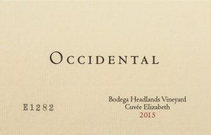 2016 Occidental Pinot Noir Bodega Headlands Vineyard Cuvee Elizabeth