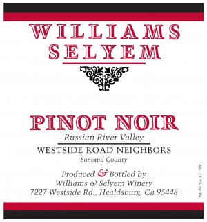 2019 Williams Selyem Pinot Noir Westside Road Neighbors