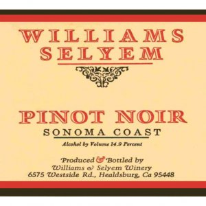 2019 Williams Selyem Pinot Noir Sonoma Coast