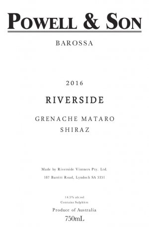 2016 Powell & Son Riverside Grenache-Mataro-Shiraz