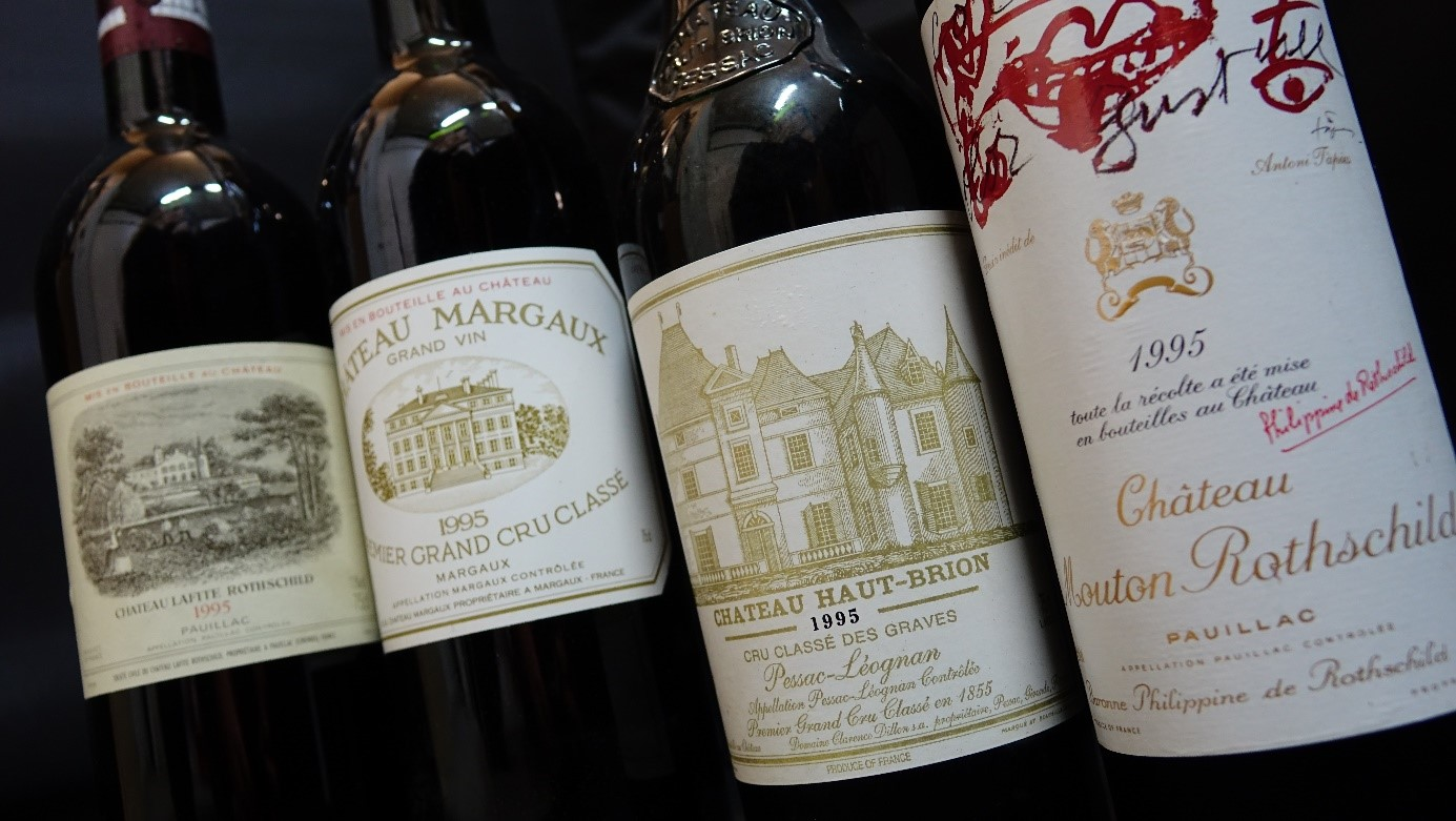 First Growth Bordeaux Five Bottle Set of One Each 750 ml