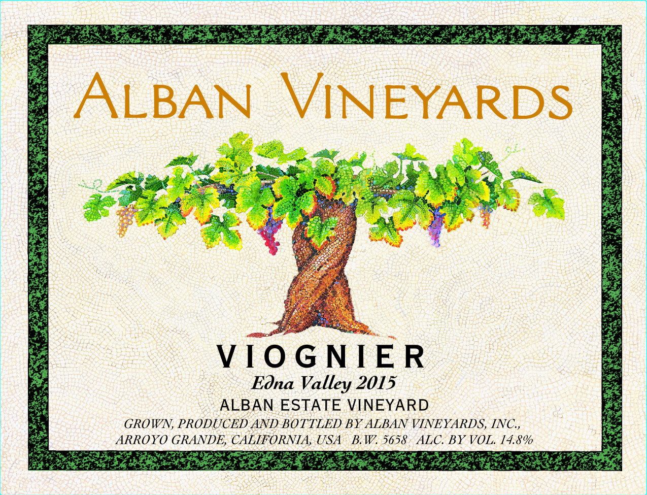 2015 Alban Vineyards Viognier Estate