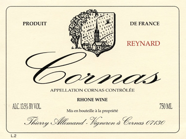 Domaine Thierry Allemand Cornas Les Chaillots