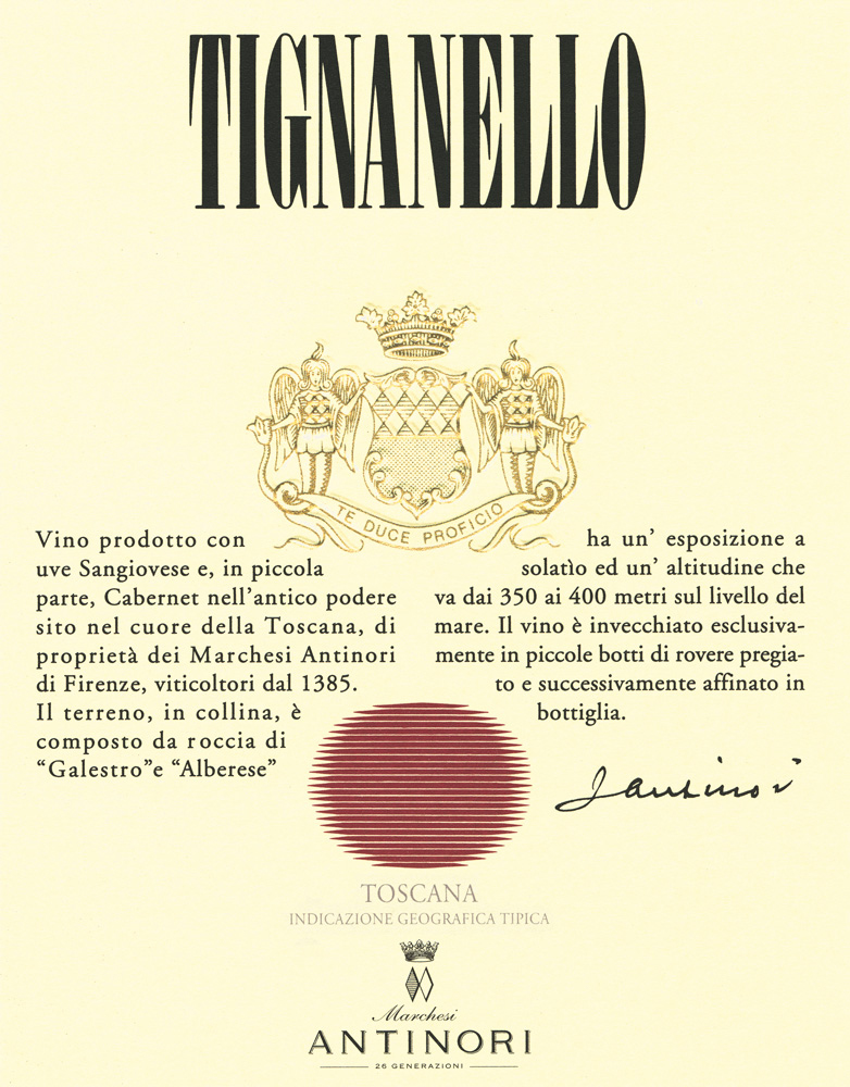 2015 Antinori Tignanello 375 ml