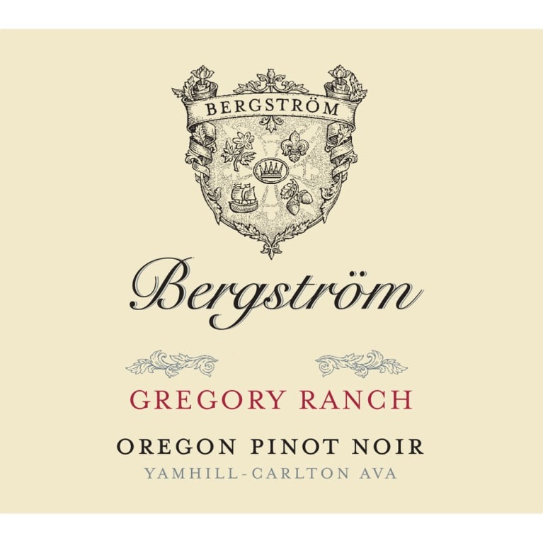 Bergstrom Vineyard Pinot Noir Gregory Ranch Vineyard