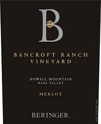 2016 Beringer Merlot Bancroft Ranch Vineyard