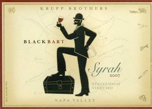 2010 Krupp Brothers Syrah Black Bart Stagecoach Vineyard