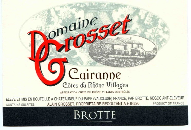 2015 Brotte Cotes-du-Rhone-Villages Cairanne Creation Grosset