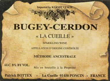 Patrick Bottex Bugey Cerdon Rose la Cueille