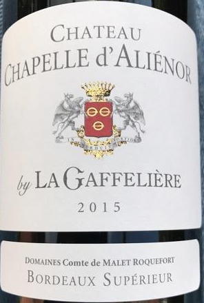 2015 Chateau Chapelle d'Alienor By La Gaffeliere