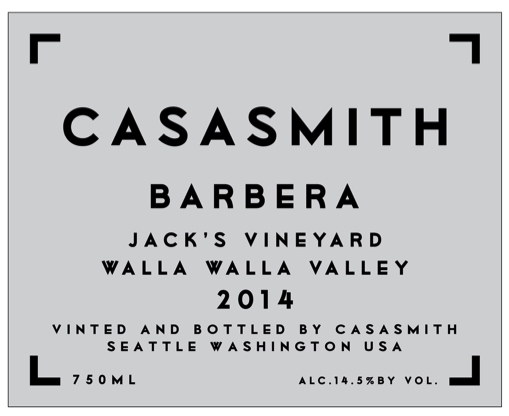 Casa Smith Barbera Jack's Vineyard
