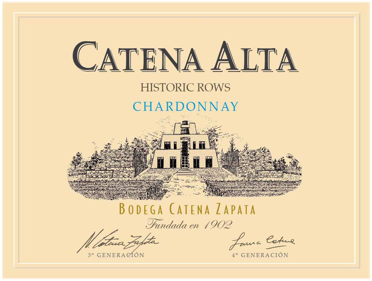 2016 Catena Zapata Chardonnay Catena Alta Historic Rows