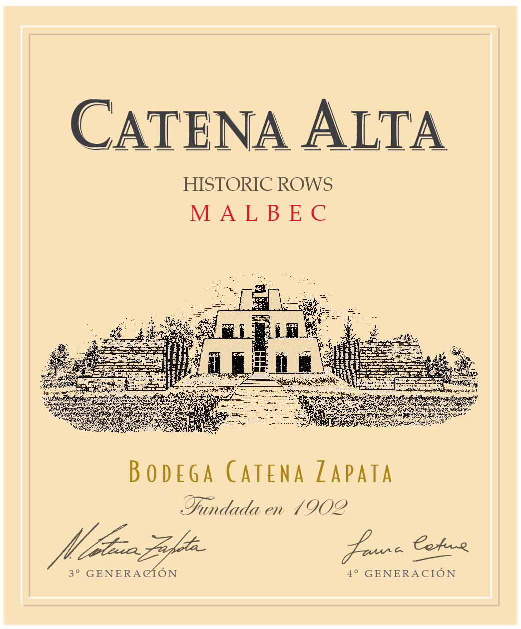 2015 Catena Zapata Malbec Catena Alta Historic Rows