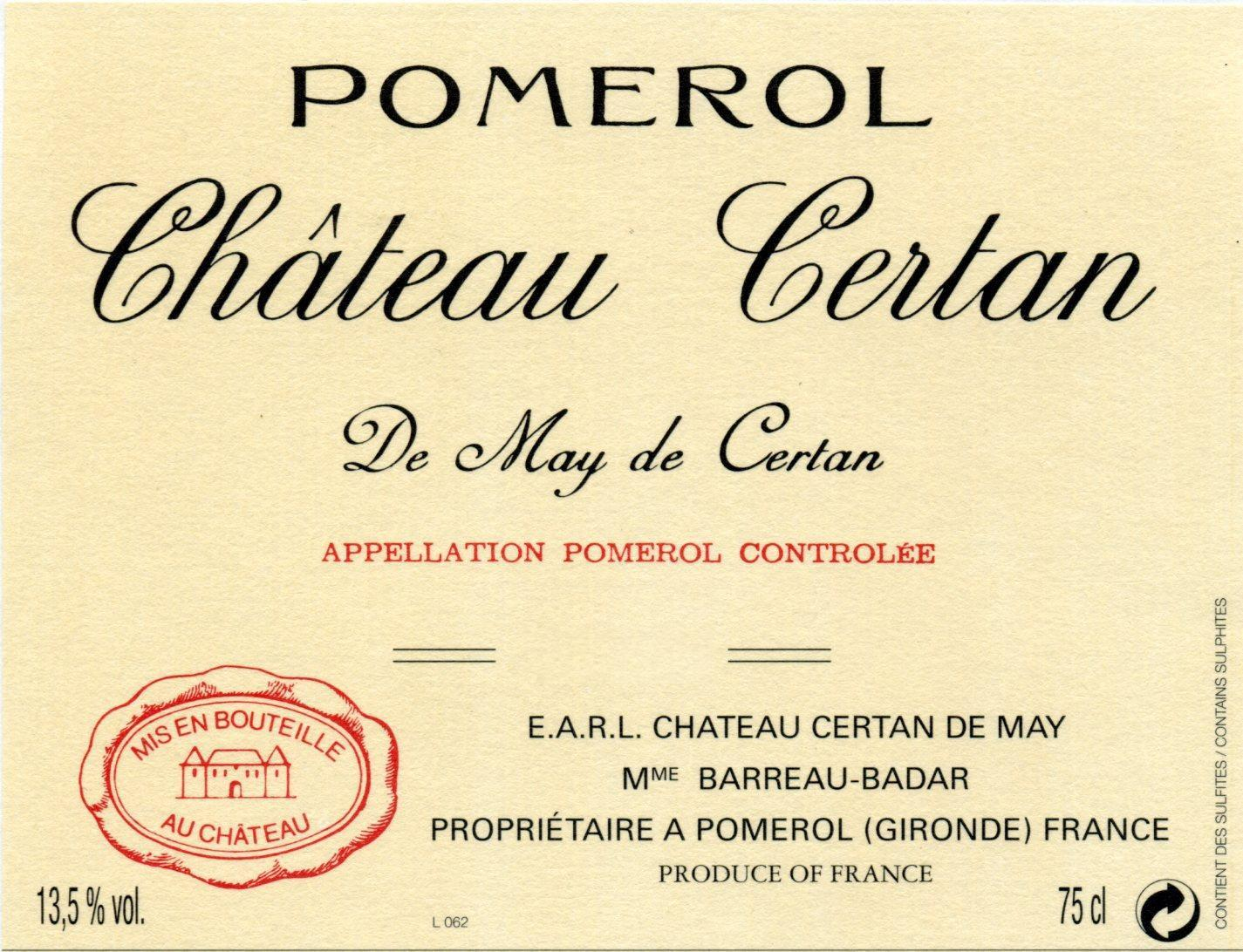 2005 Chateau Certan de May