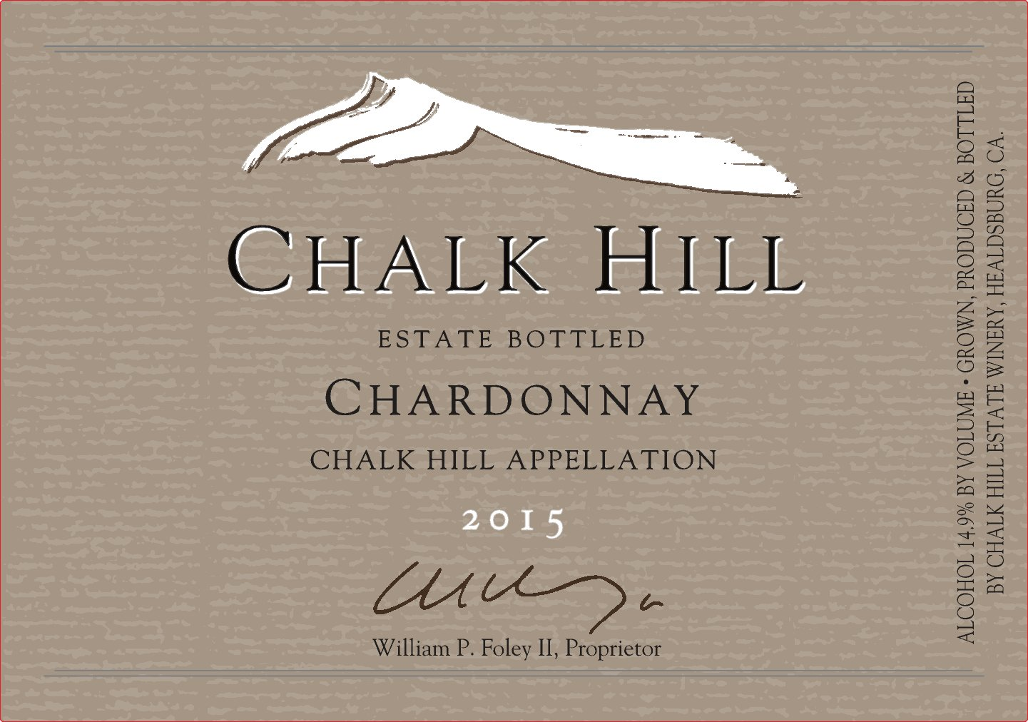 2015 Chalk Hill Chardonnay Estate