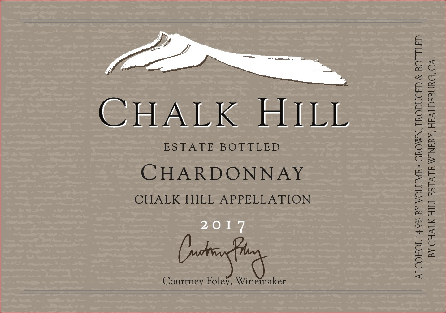 2014 Chalk Hill Chardonnay Estate