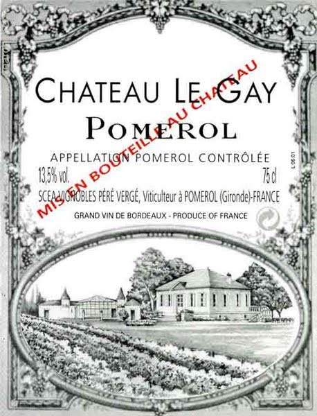 2005 Chateau Le Gay 3.0 L