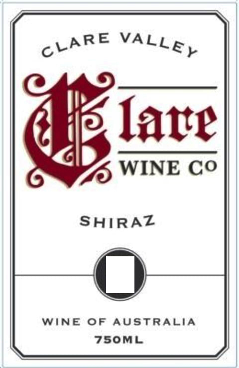 2014 Clare Wine Co. Shiraz