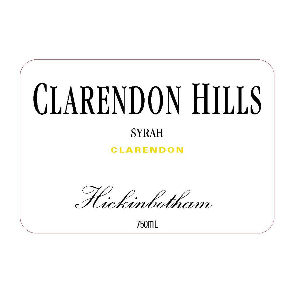Clarendon Hills Syrah Hickinbotham Vineyard