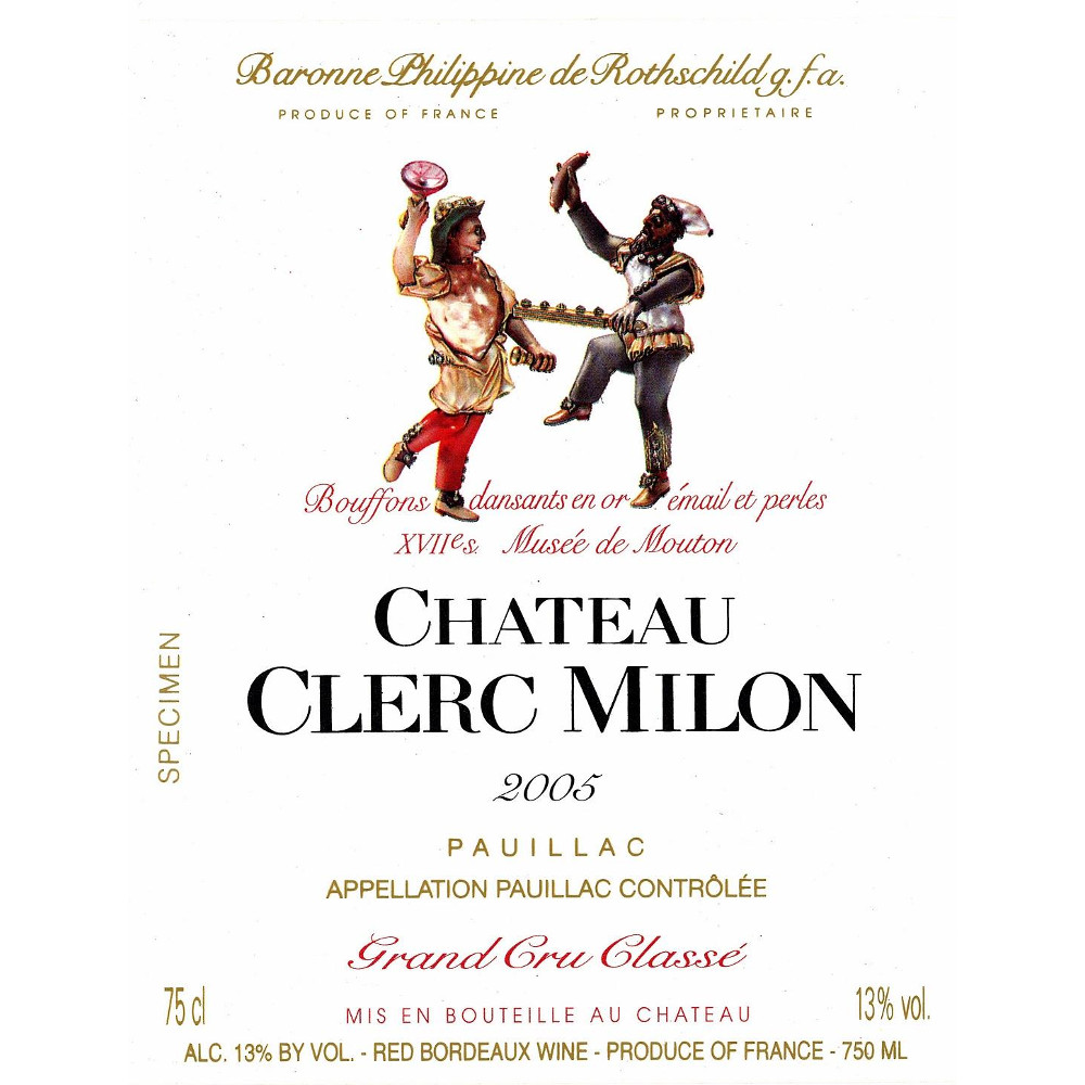 2005 Chateau Clerc Milon 6.0 L