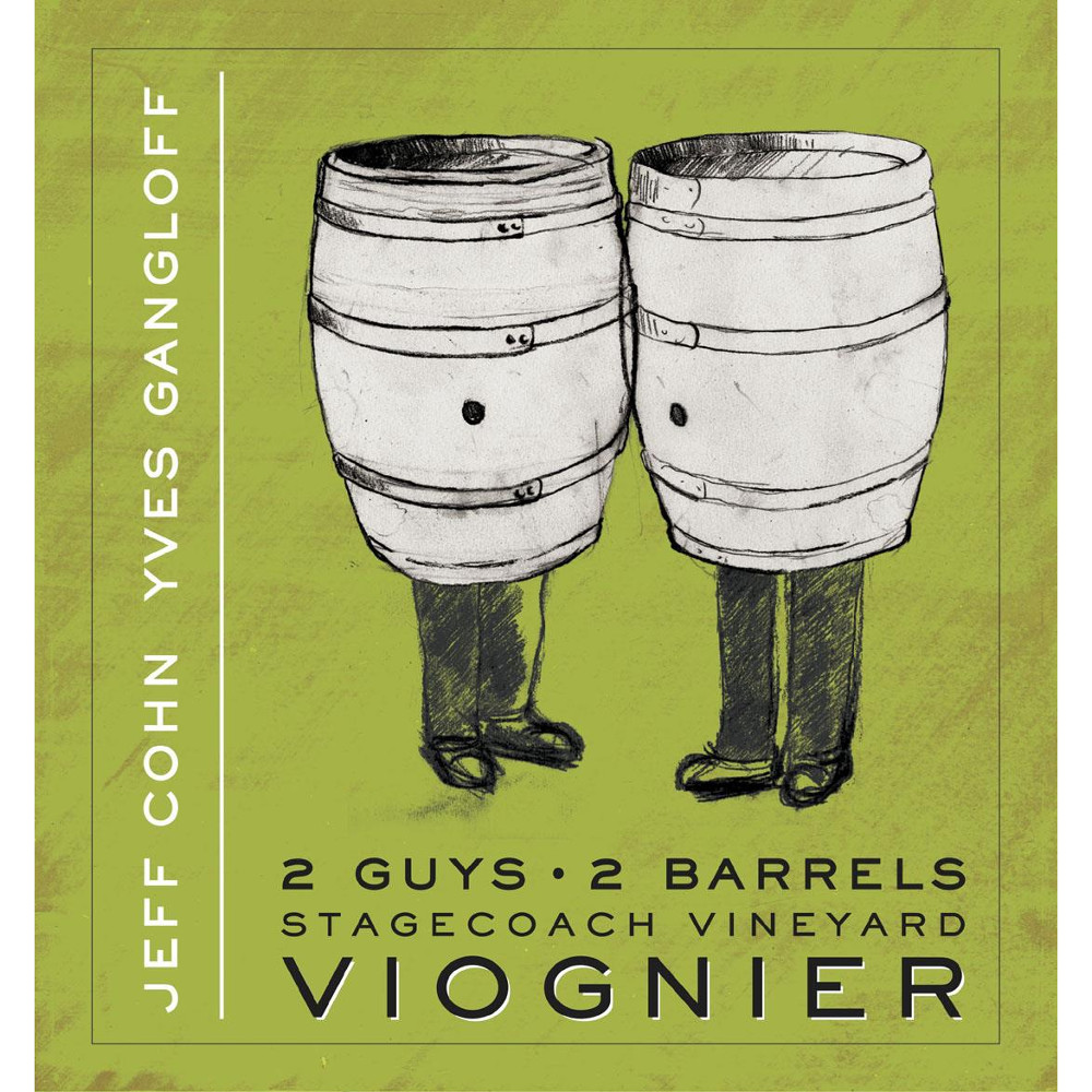 Jeff Cohn Cellars Viognier 2 Guys 2 Barrels Stagecoach Vineyard