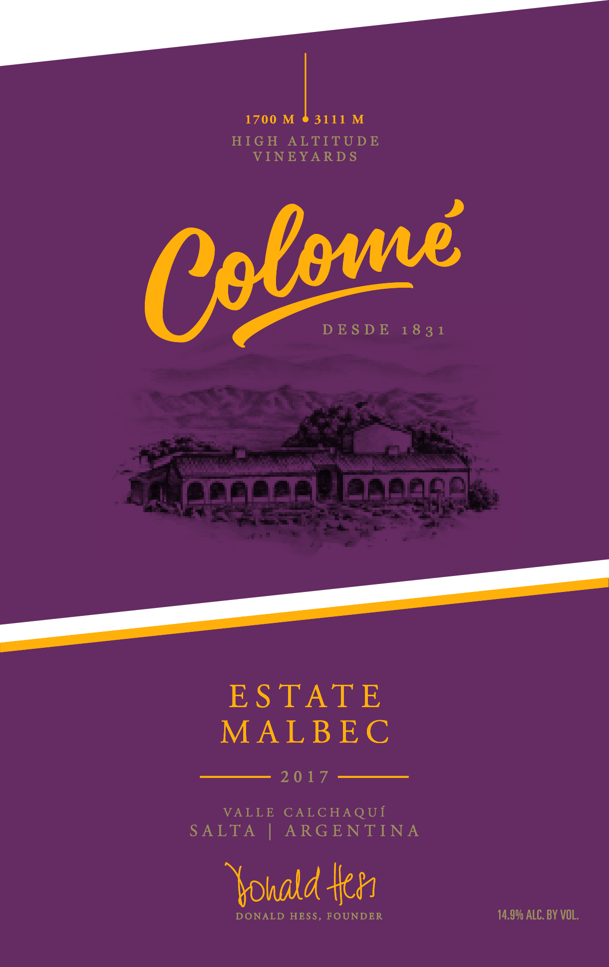 Bodega Colome Malbec Estate High Altitude Vineyards