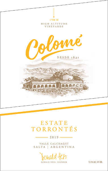 Colome Torrontes Estate High Altitude Vineyards