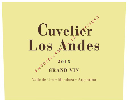 2015 Cuvelier Los Andes Grand Vin Proprietary Red Blend