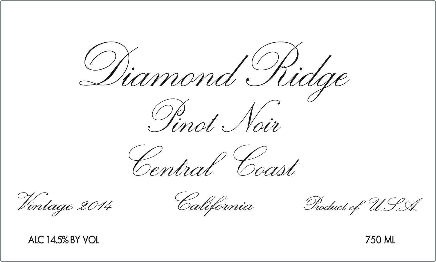 2014 Diamond Ridge Pinot Noir