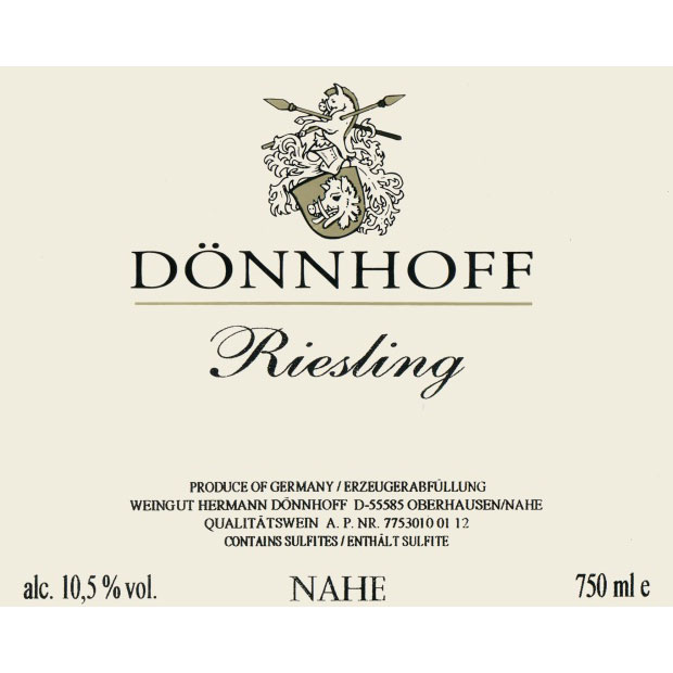 Donnhoff Estate Riesling QbA (Feinherb)