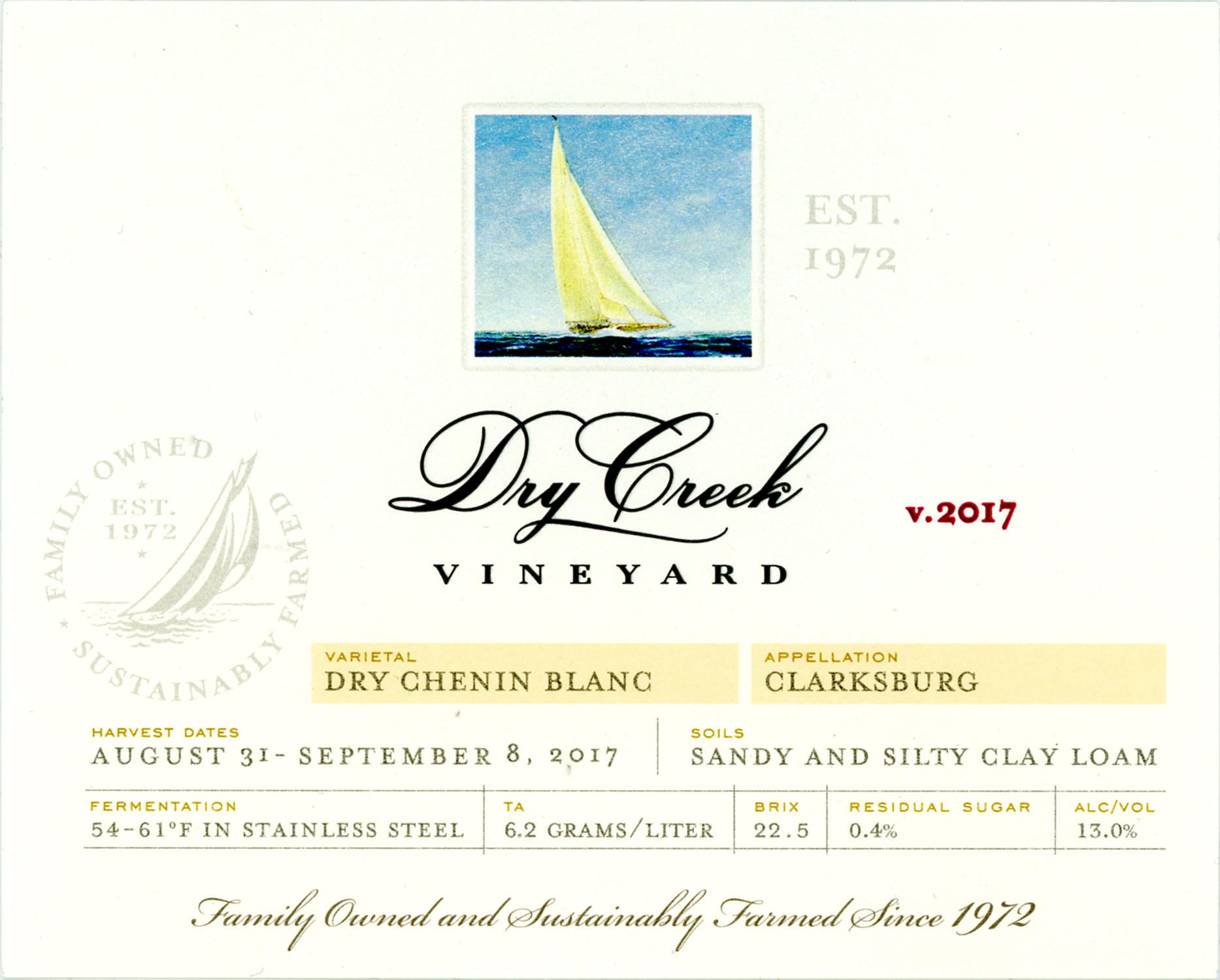 2017 Dry Creek Vineyard Chenin Blanc